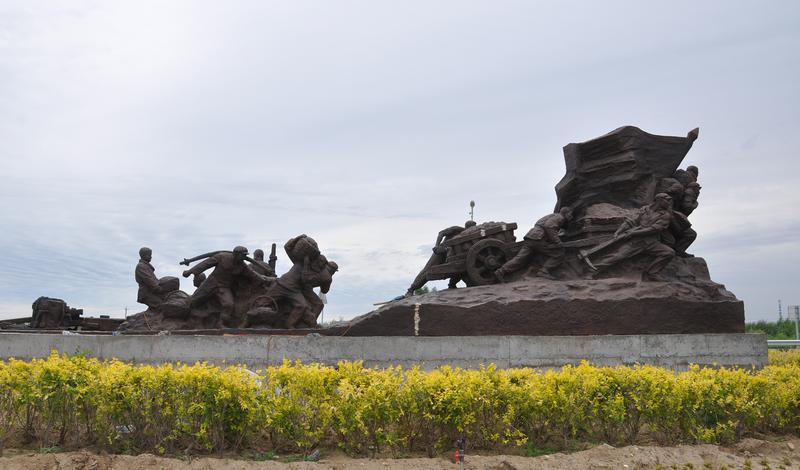 内蒙古巴彦淖尔市五原县《总干魂》雕塑
